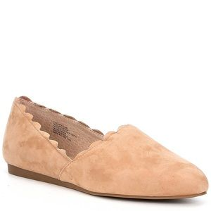 CHELSEA & VIOLET Clara Suede Scalloped Flats
